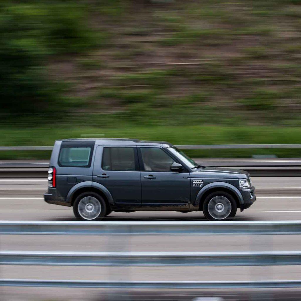 Jeep on highway