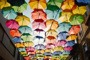 Multi color Umbrellas