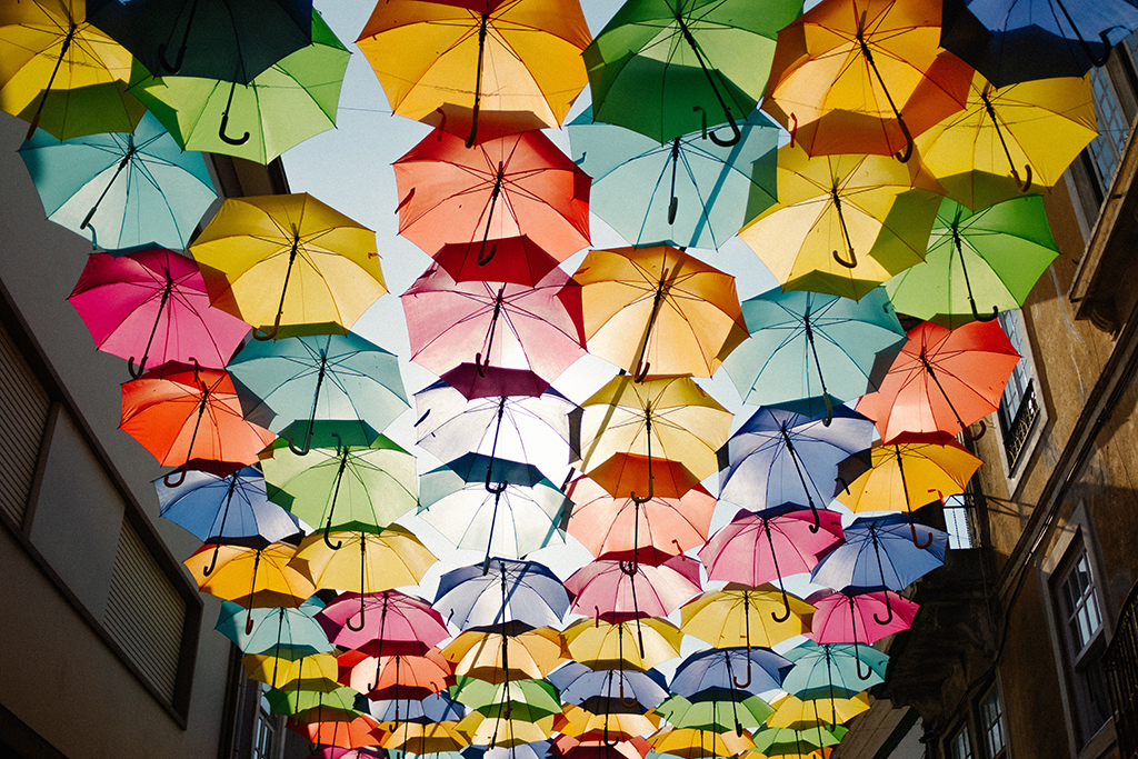 Multi color Umbrellas